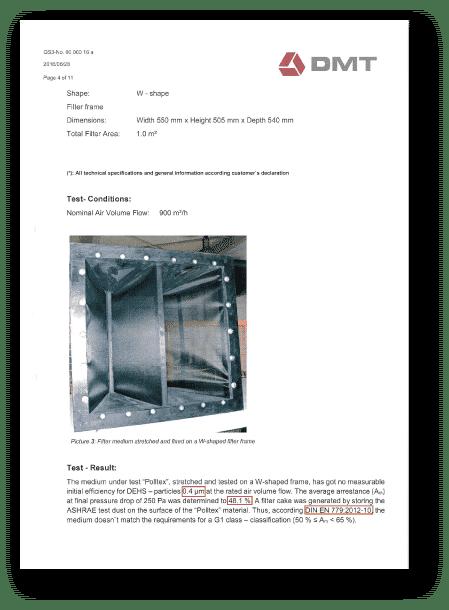 Poll-tex普特絲防霾紗窗通過DMT實驗室PM0.4測試